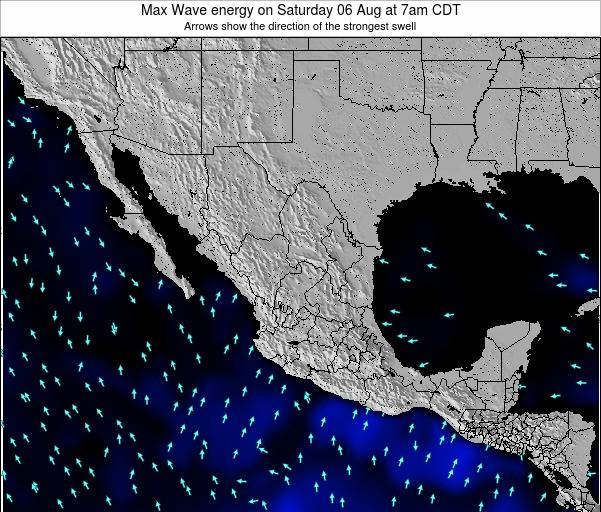 Mexico Max Wave energy on Tuesday 29 Apr at 1pm CDT