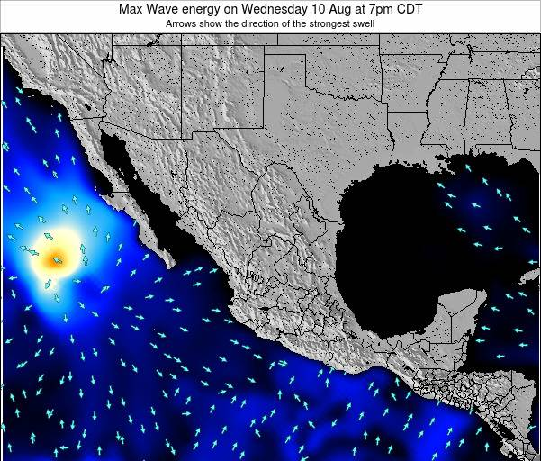 Mexico Max Wave energy on Monday 09 May at 7am CDT