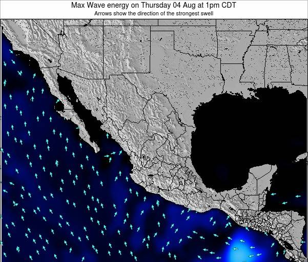Mexico Max Wave energy on Tuesday 01 Sep at 1pm CDT