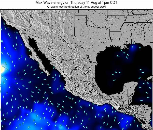 Mexico Max Wave energy on Monday 24 Jun at 7am CDT