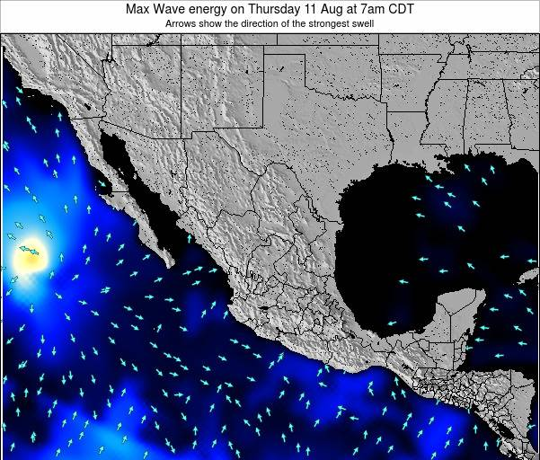 Mexico Max Wave energy on Tuesday 05 Aug at 1am CDT