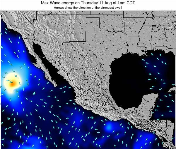 Mexico Max Wave energy on Wednesday 14 Dec at 12am CST