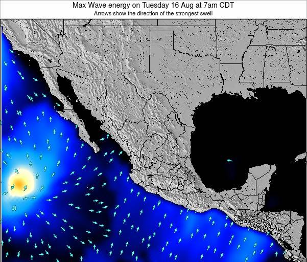 Mexico Max Wave energy on Wednesday 17 Feb at 12am CST