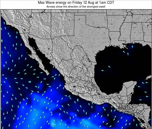 Mexico Max Wave energy on Tuesday 25 Jun at 7am CDT