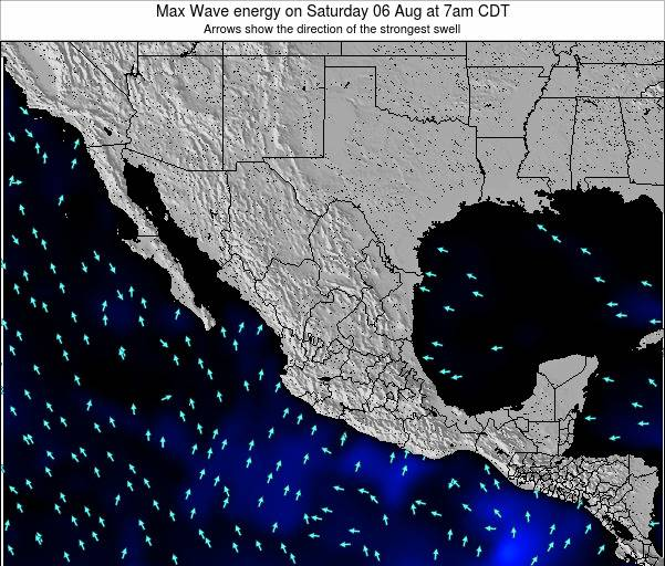 Mexico Max Wave energy on Wednesday 12 Mar at 6pm CST