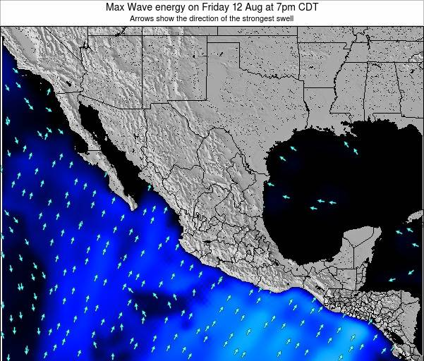 Mexico Max Wave energy on Monday 28 Apr at 1pm CDT