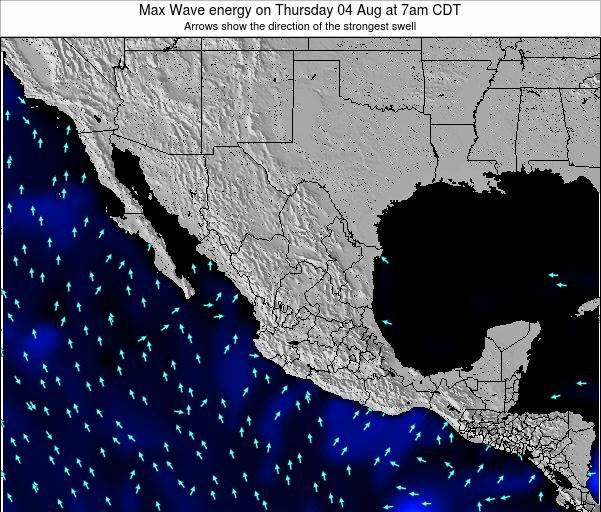 Mexico Max Wave energy on Saturday 26 Apr at 1am CDT