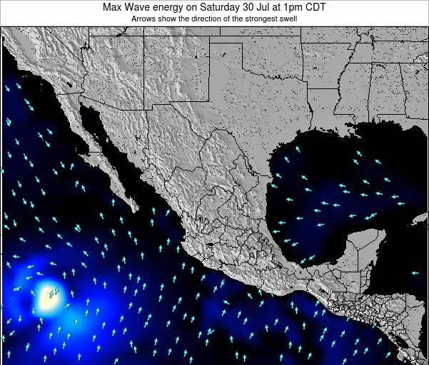Mexico Max Wave energy on Tuesday 02 Aug at 7pm CDT