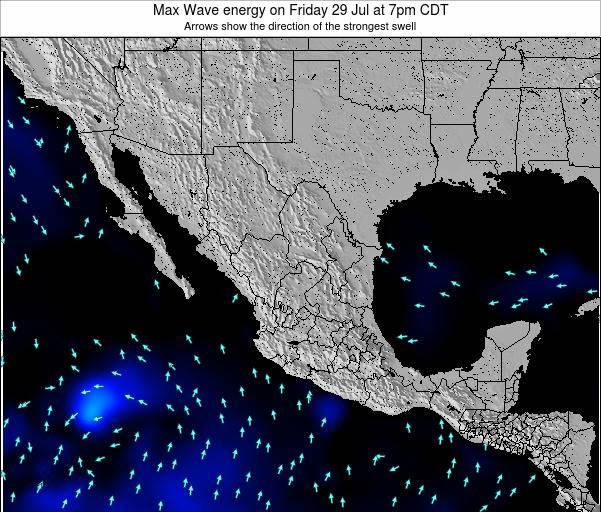 Mexico Max Wave energy on Saturday 05 Dec at 6pm CST