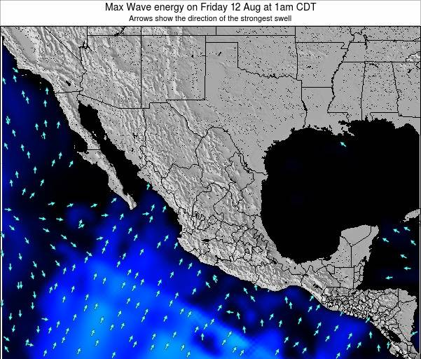 Mexico Max Wave energy on Monday 08 Sep at 7am CDT