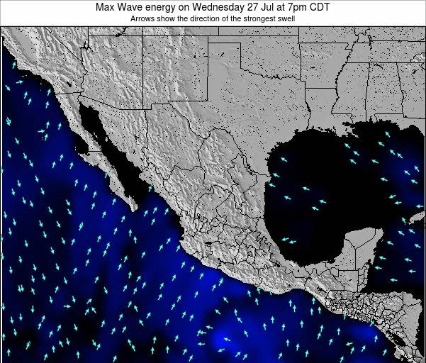 Mexico Max Wave energy on Monday 27 Oct at 7am CDT