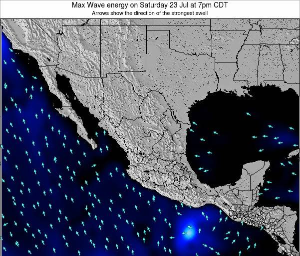 Mexico Max Wave energy on Tuesday 28 May at 7pm CDT