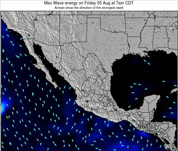 Mexico Max Wave energy on Monday 04 Aug at 1pm CDT
