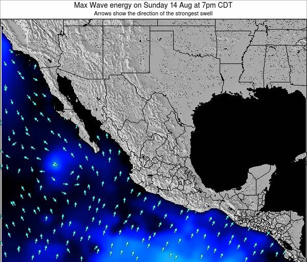 Mexico Max Wave energy on Saturday 01 Jun at 1am CDT