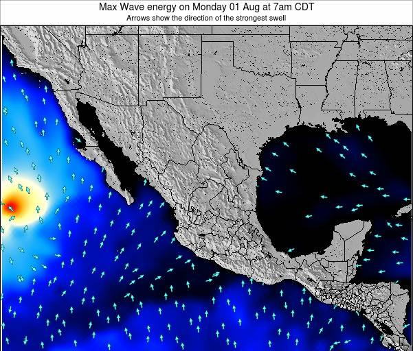 Mexico Max Wave energy on Wednesday 12 Mar at 6am CST