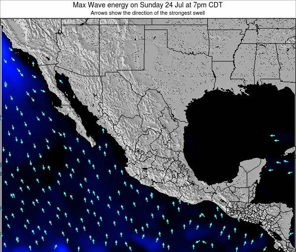 Mexico Max Wave energy on Thursday 17 Apr at 7am CDT