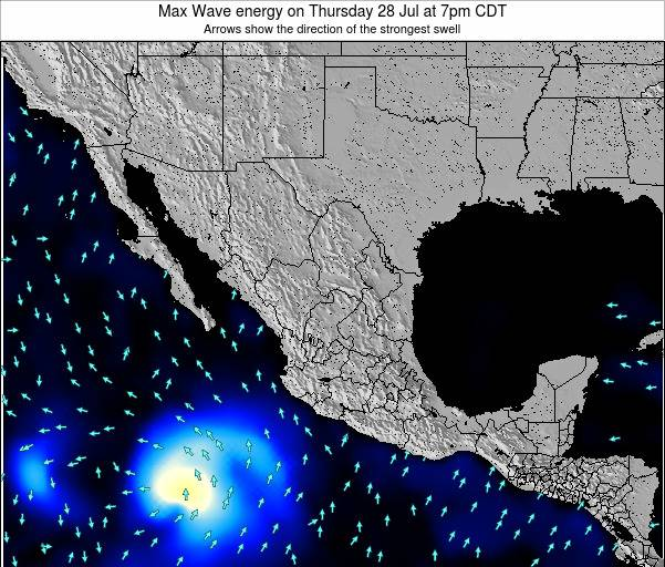 Mexico Max Wave energy on Wednesday 10 Feb at 6am CST
