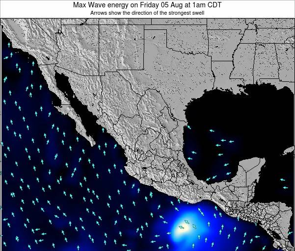 Mexico Max Wave energy on Monday 01 Sep at 1pm CDT