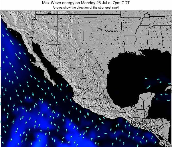 Mexico Max Wave energy on Saturday 19 Apr at 7am CDT