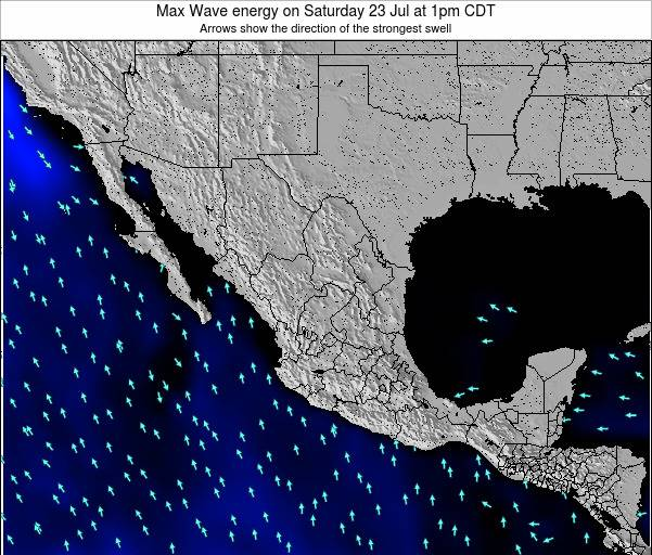 Mexico Max Wave energy on Thursday 24 Apr at 1am CDT