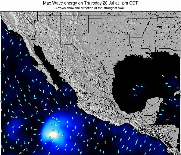Mexico Max Wave energy on Saturday 24 Feb at 12am CST map