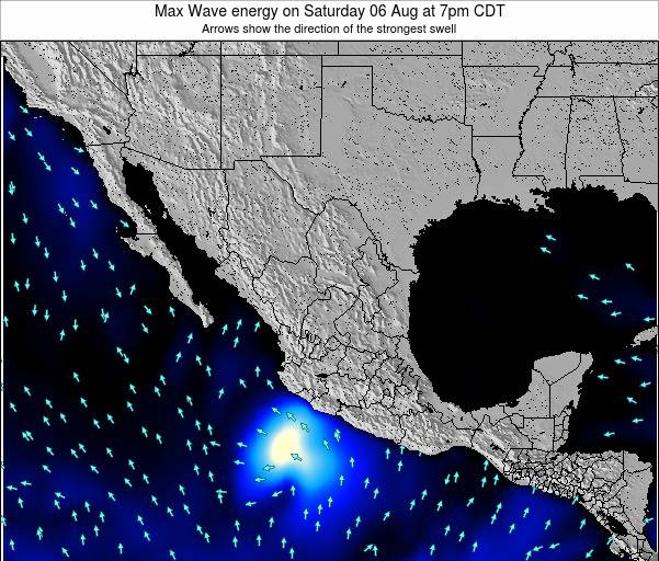 Mexico Max Wave energy on Wednesday 30 Jul at 1pm CDT
