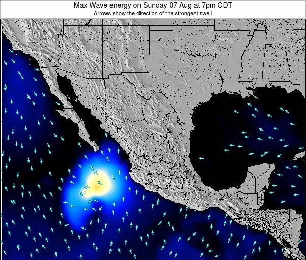 Mexico Max Wave energy on Saturday 14 Dec at 12pm CST