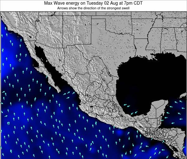 Mexico Max Wave energy on Monday 10 Mar at 12am CST