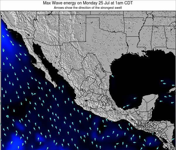 Mexico Max Wave energy on Thursday 24 Apr at 7am CDT