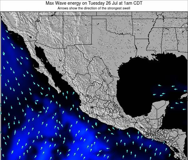 Mexico Max Wave energy on Saturday 26 Jul at 1pm CDT