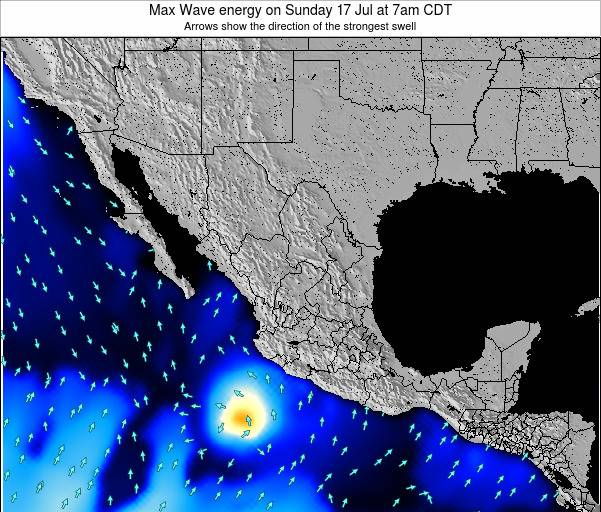 Mexico Max Wave energy on Sunday 26 Oct at 7am CDT