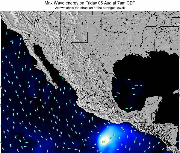 Mexico Max Wave energy on Tuesday 27 Jan at 6am CST