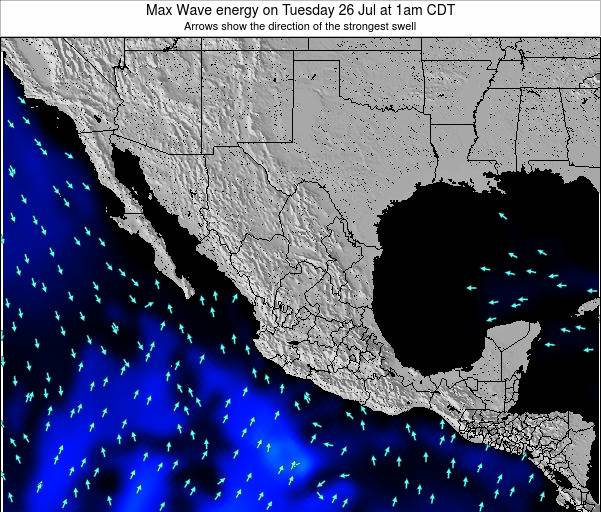Mexico Max Wave energy on Friday 20 Jul at 7am CDT map