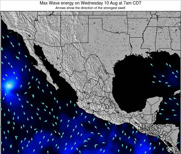 Mexico Max Wave energy on Thursday 22 Nov at 6pm CST map