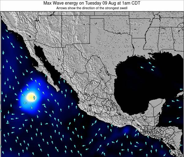 Mexico Max Wave energy on Monday 28 Jul at 1am CDT