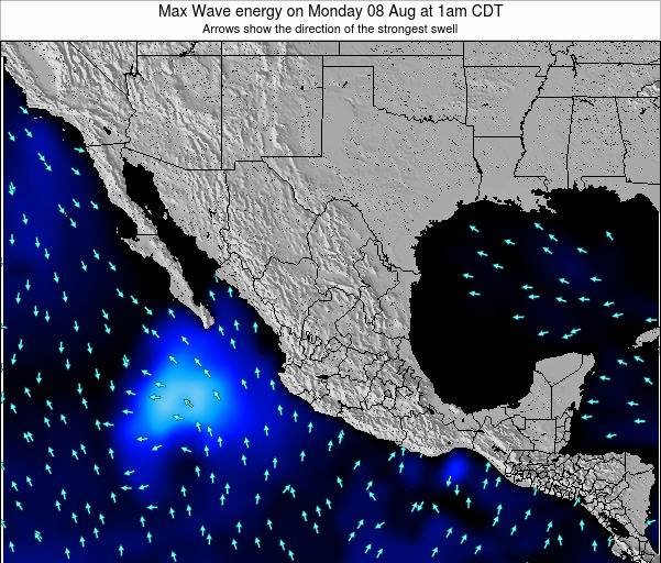 Mexico Max Wave energy on Thursday 23 May at 7am CDT