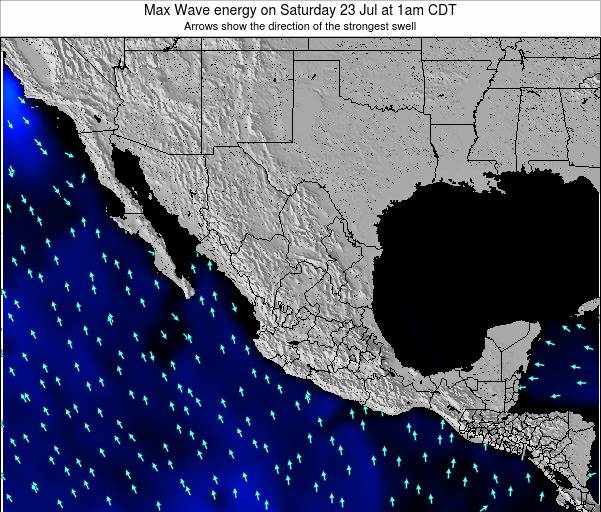 Mexico Max Wave energy on Thursday 24 Apr at 1pm CDT