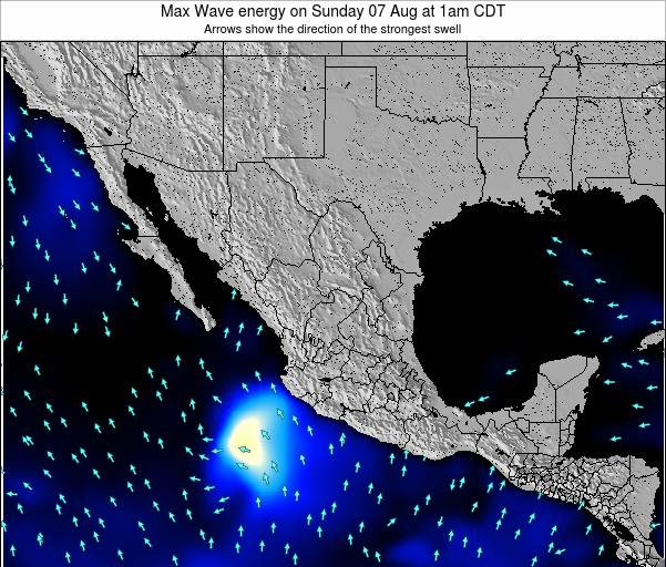 Mexico Max Wave energy on Thursday 26 Mar at 12pm CST