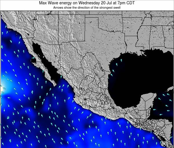 Mexico Max Wave energy on Saturday 29 Apr at 1pm CDT