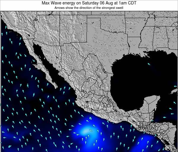 Mexico Max Wave energy on Friday 07 Mar at 6pm CST