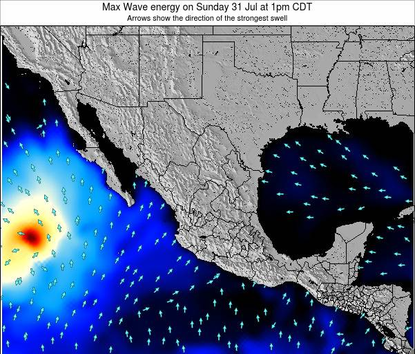 Mexico Max Wave energy on Wednesday 22 May at 7pm CDT