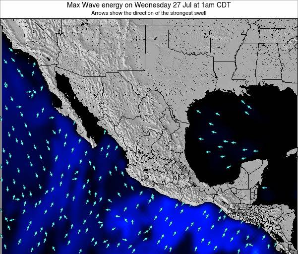 Mexico Max Wave energy on Tuesday 11 Mar at 12pm CST