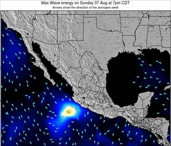 Mexico Max Wave energy on Monday 09 Dec at 6am CST