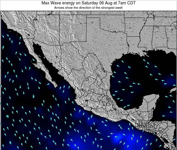 Mexico Max Wave energy on Tuesday 03 Mar at 12pm CST