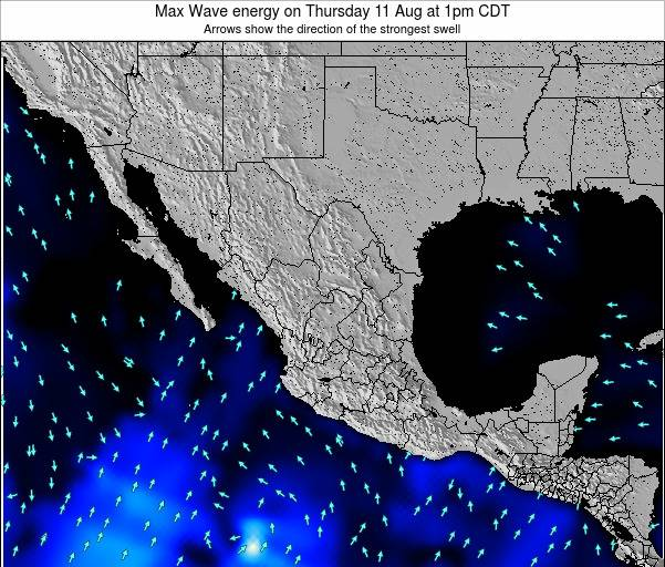 Mexico Max Wave energy on Wednesday 23 Apr at 1am CDT