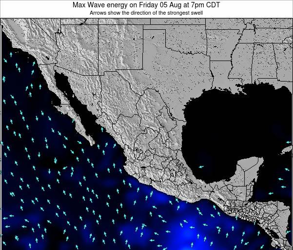 Mexico Max Wave energy on Tuesday 25 Oct at 7pm CDT