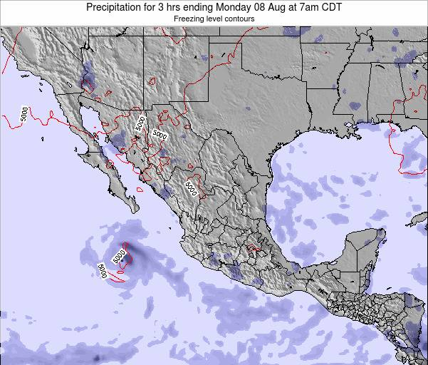 Mexico Precipitation for 3 hrs ending Saturday 19 Apr at 7am CDT