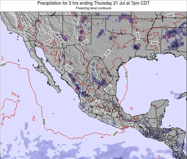 Mexico Precipitation for 3 hrs ending Friday 01 Aug at 1am CDT