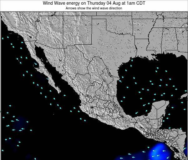 Mexico Wind Wave energy on Wednesday 12 Mar at 12am CST