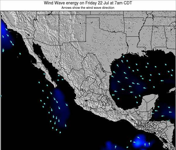 Mexico Wind Wave energy on Sunday 15 Dec at 6pm CST